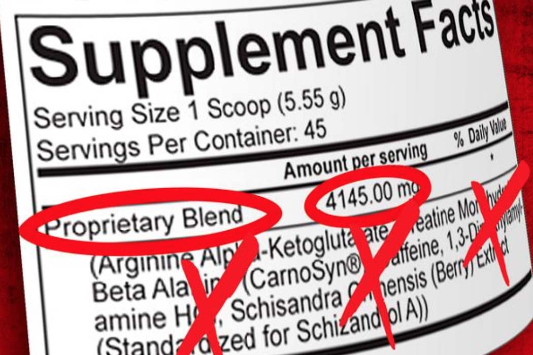 avoid proprietary blend