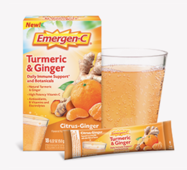 emergen c ginger and turmeric for hangovers