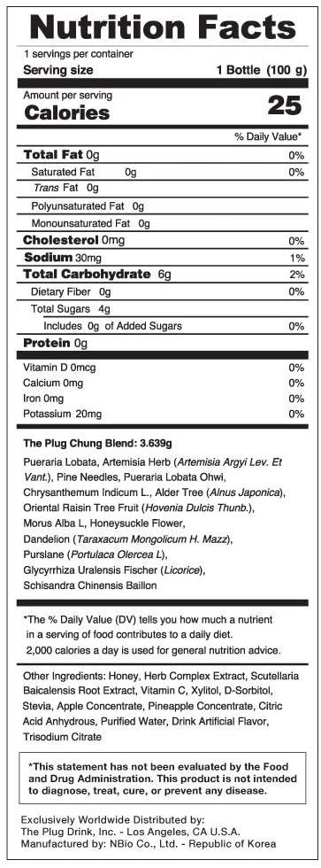 The plug drink ingredients