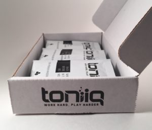 Toniiq Packaging Box that orders come in